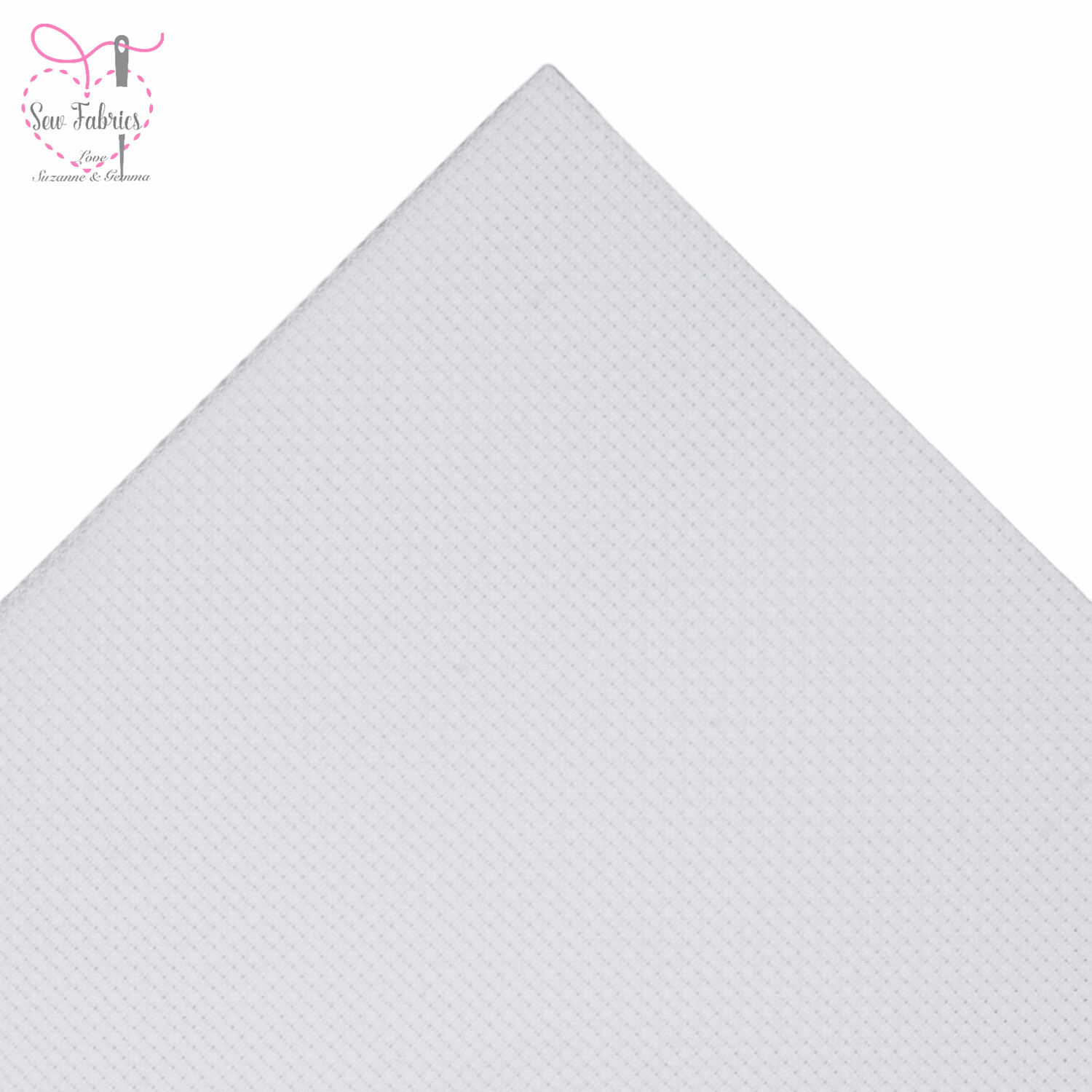 """14 Count/HPI Cross Stitch Aida Sheets White (10"""" x 14""""/25cm x 35cm) Pack of 5 sheets"""