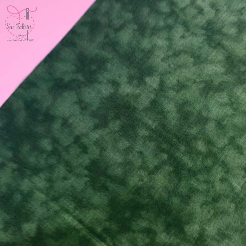 John Louden Bottle Green Blender 100% Cotton Fabric, Green Mixer Backing Material