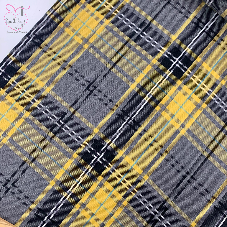 Gold Fashion Tartan Fabric, Polyester/Viscose Material