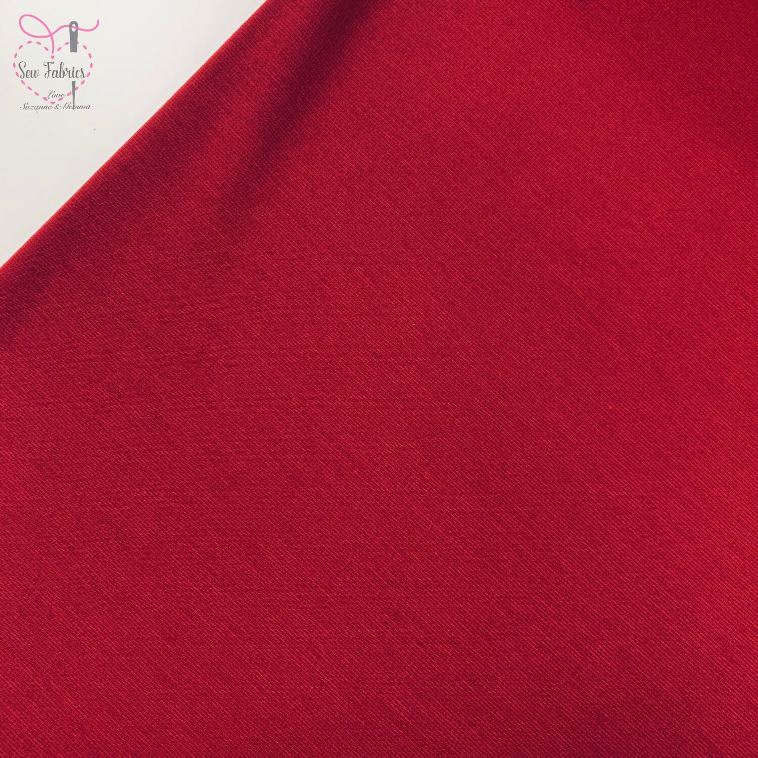 Red Ponte Roma Solid Jersey Fabric