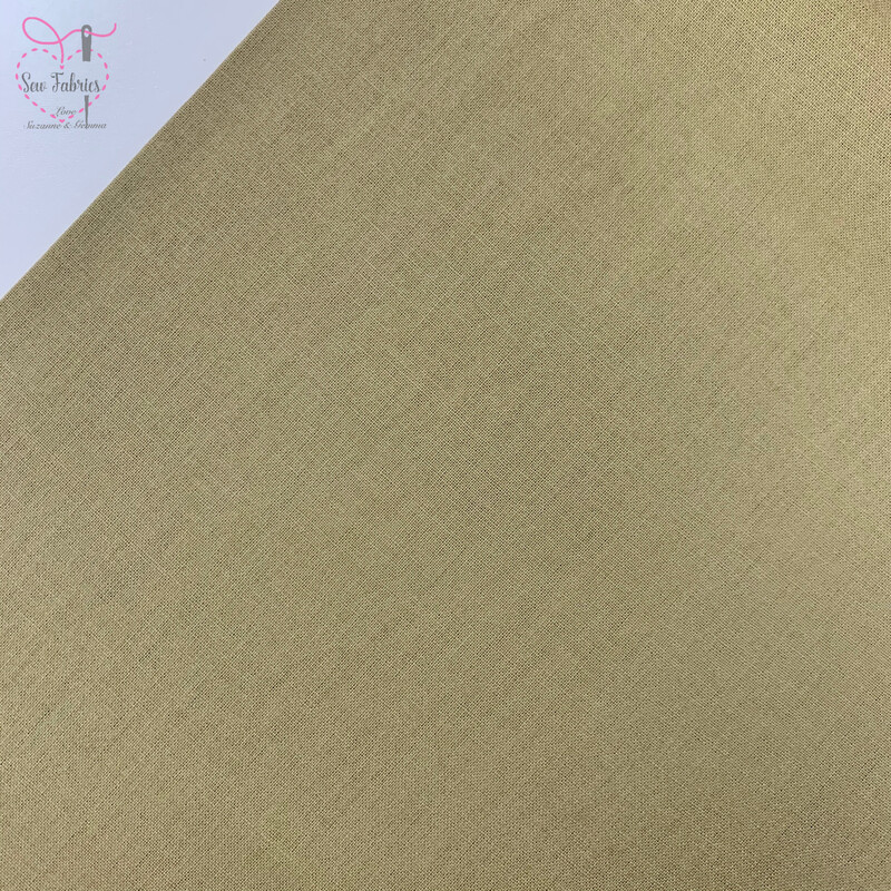 Khaki Green 100% Craft Cotton Solid Fabric Plain Material