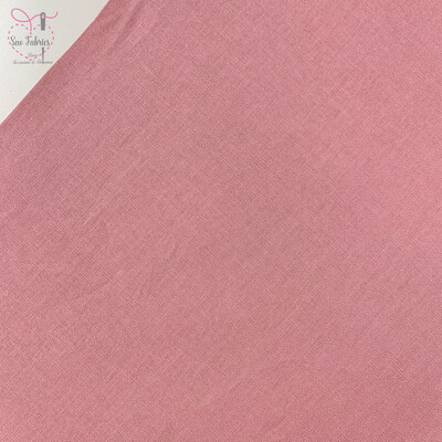 Antique Rose Pink 100% Craft Cotton Solid Fabric Plain Material