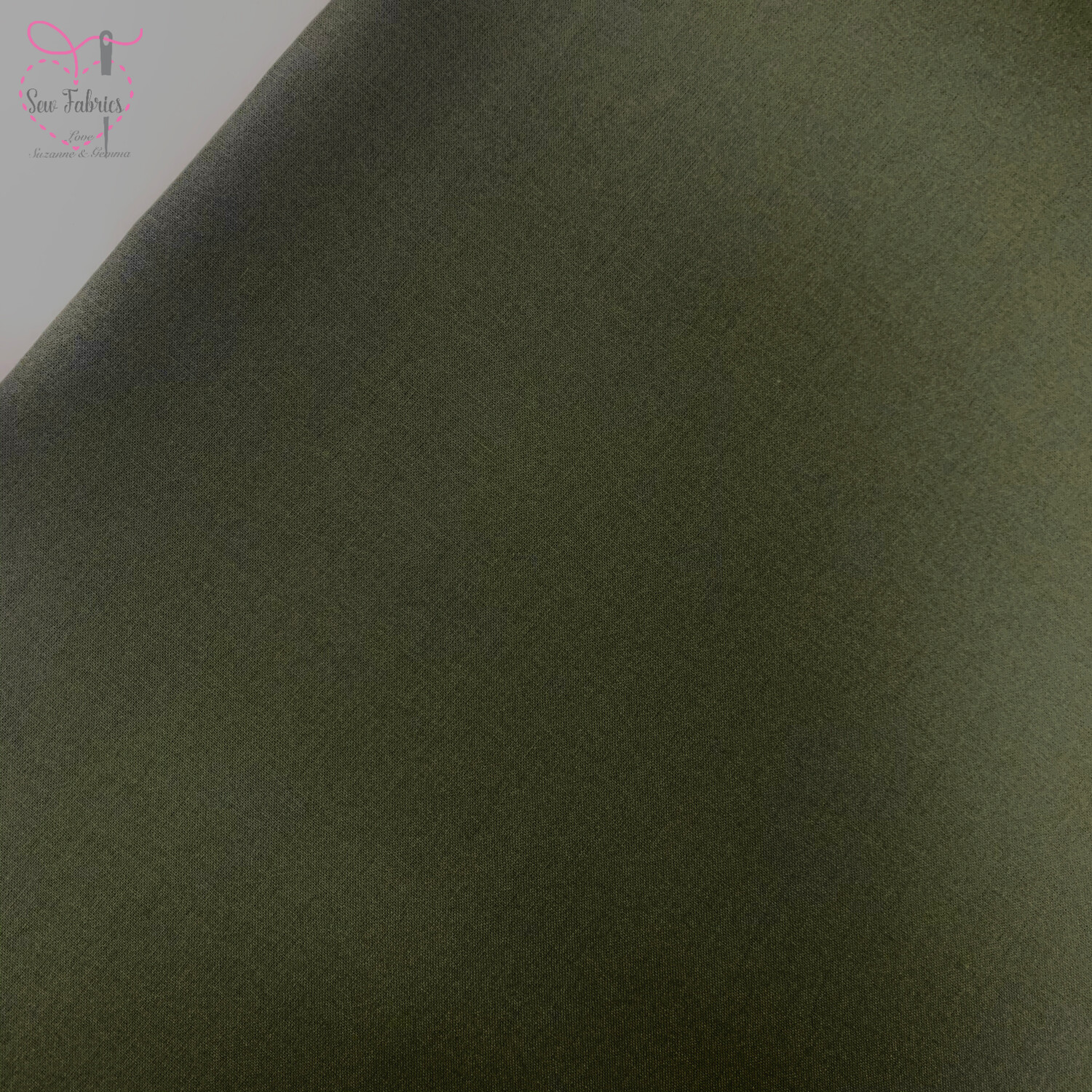 Olive Green 100% Craft Cotton Solid Fabric Plain Material