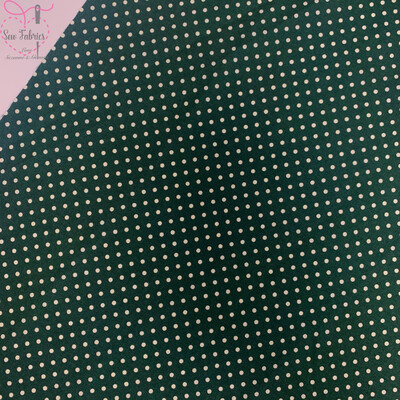 Rose and Hubble Old Green Polka Dot Fabric 100% Cotton Poplin Spot Geometric Material