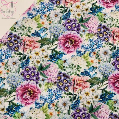 John Louden Large Blooms Fabric 100% Cotton 60