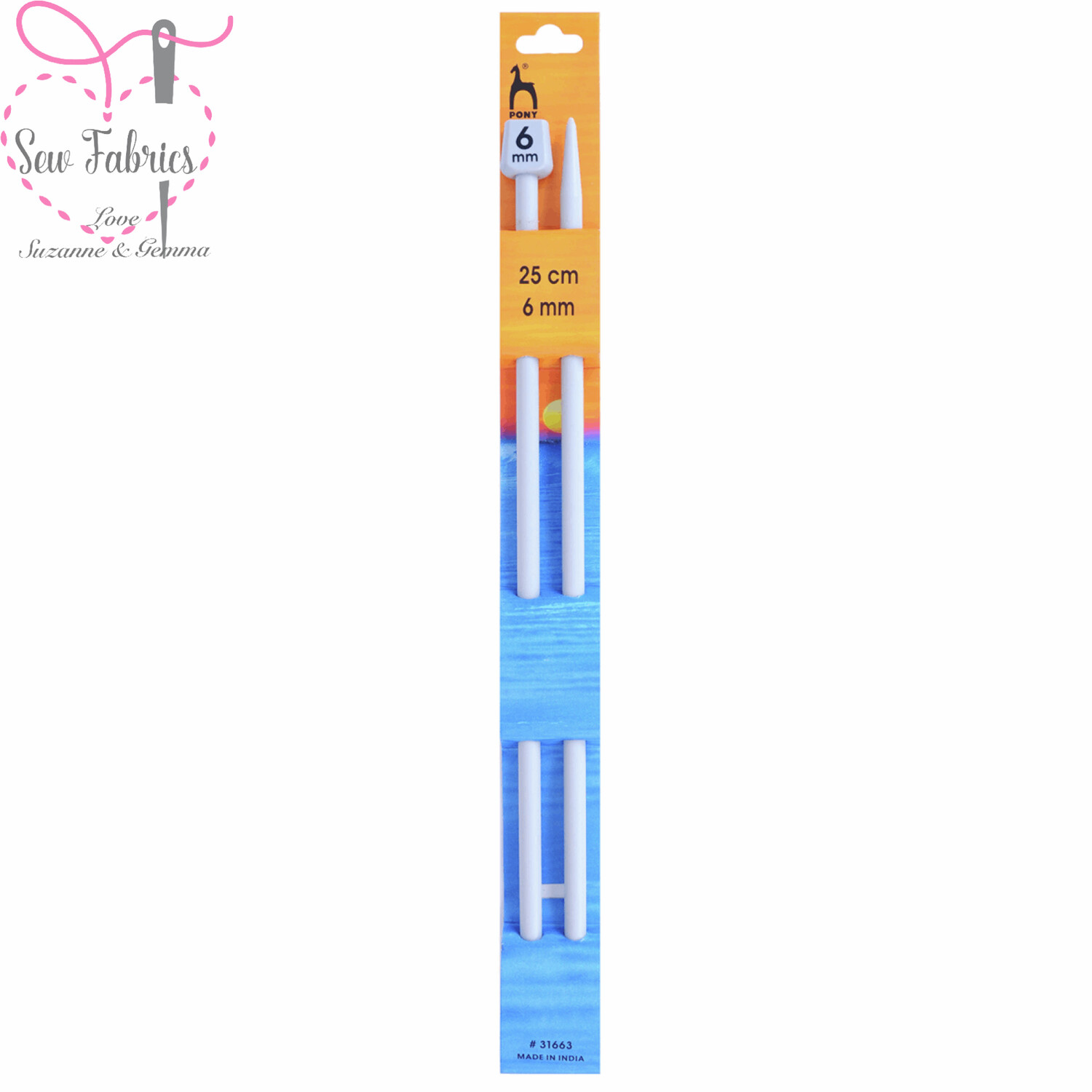 Pony Single Ended 25cm Classic Grey Knitting Needles / Pins in Size 6mm. Smooth Light Knitting Needles.