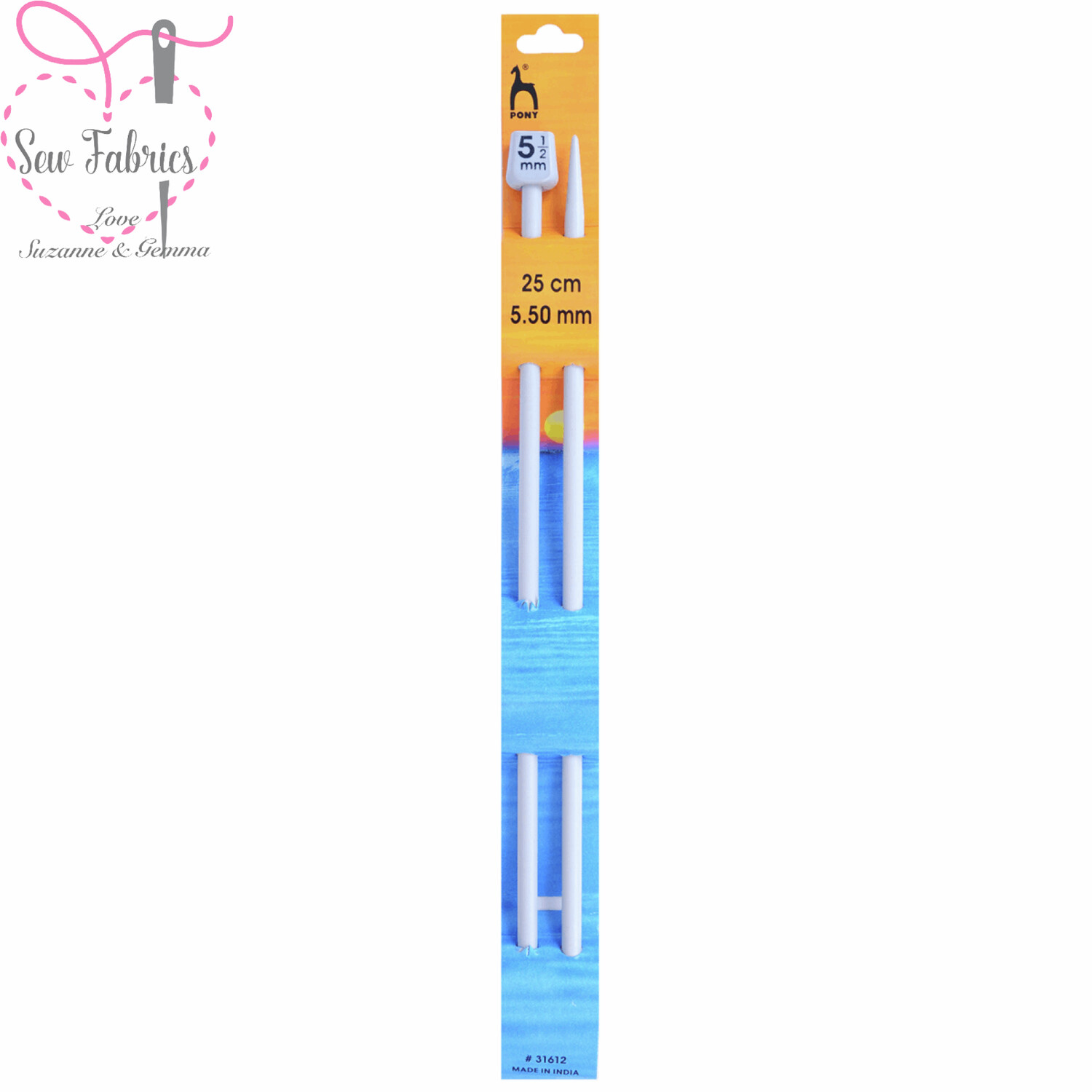Pony Single Ended 25cm Classic Grey Knitting Needles / Pins in Size 5.5mm. Smooth Light Knitting Needles.
