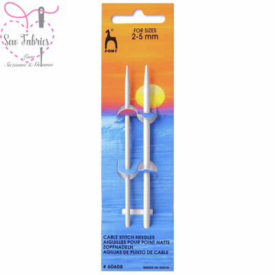 2 x Pony Cable Needles - Small