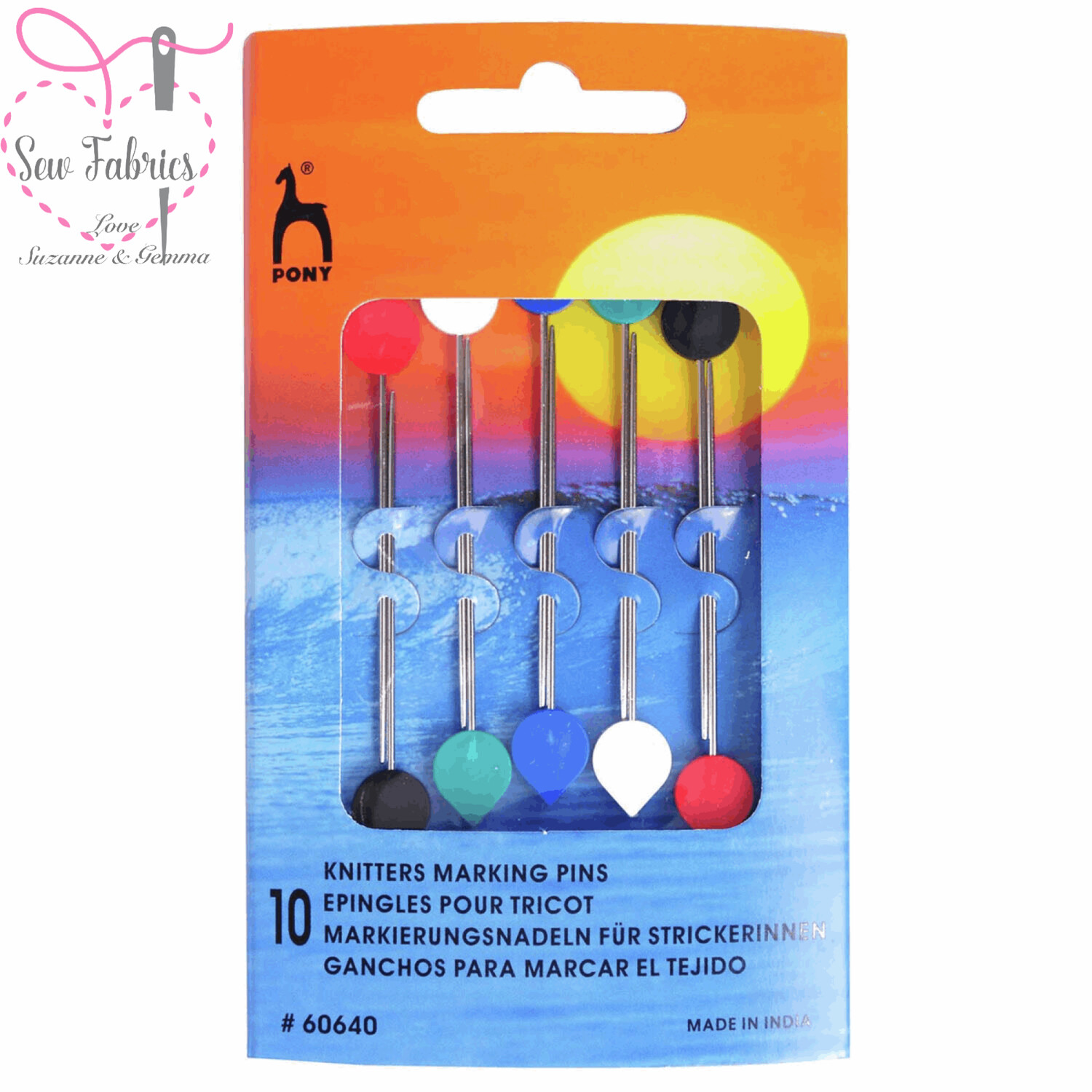 Pack of 10 Pony Knitters Marking Pins