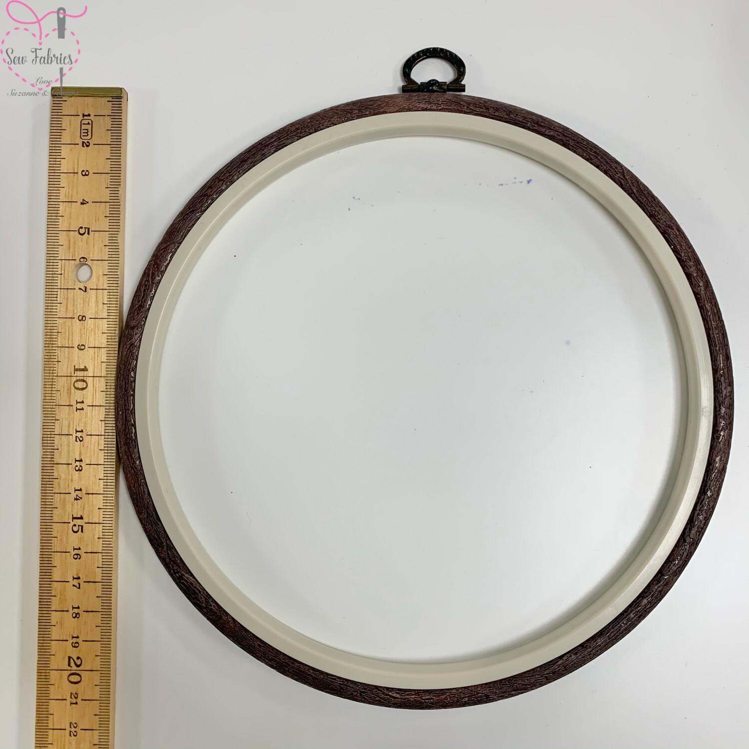 """Nurge 8""""/20.5cm Round Flexi Hoop for Patchwork/Quilting, Embroidery, Sewing"""