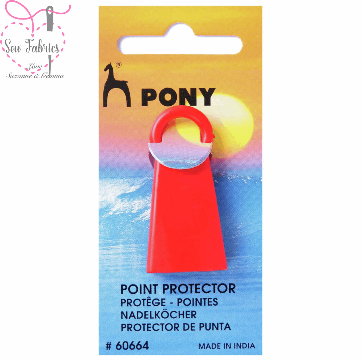 Pony Jumbo Red Silicone Knitting Needle Point Protector