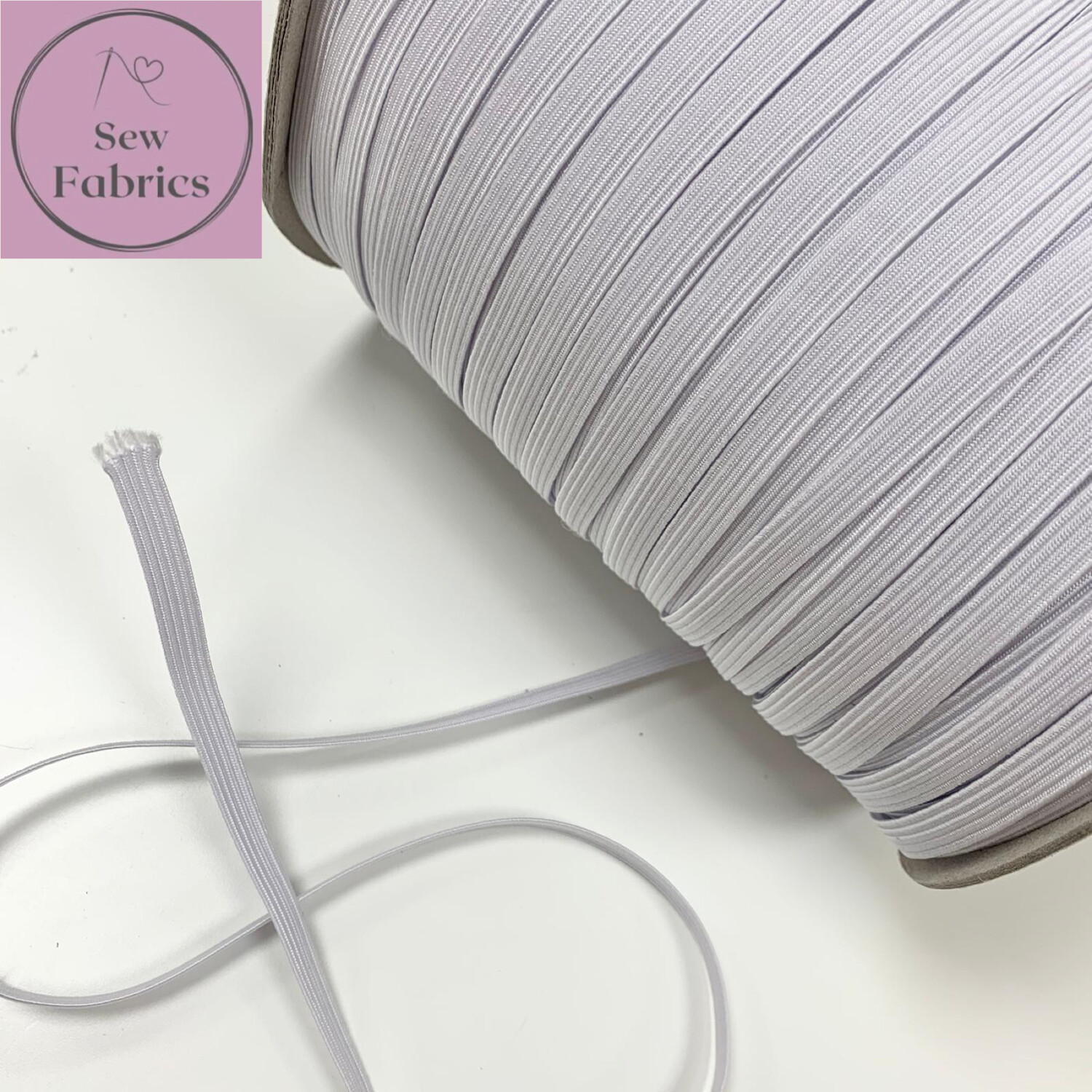 1 metre of 8mm White Insert Cord Elastic