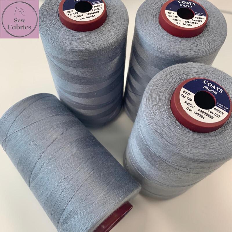 5000y Moon Polyester Thread Cones, Overlocker - Storm Grey M084