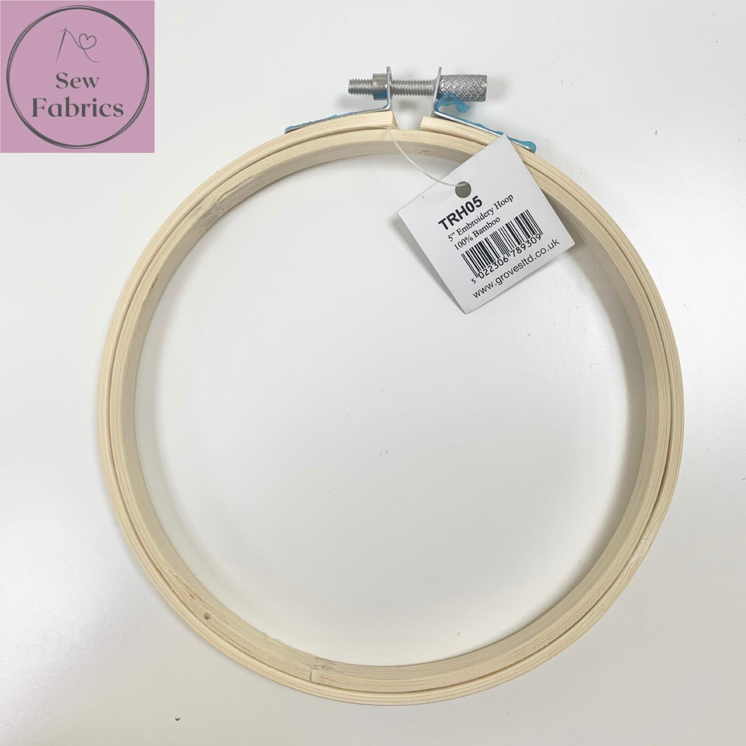 """5"""" Embroidery, Sewing Bamboo Hoop With Silver Screw Clasp"""