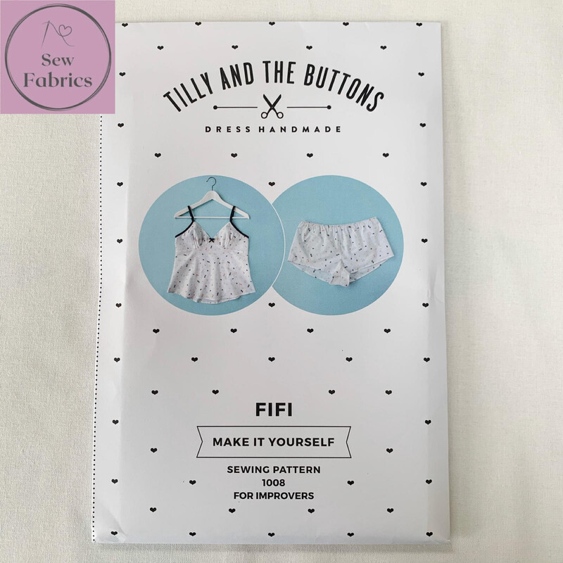 Fifi Pyjamas Printed Sewing Pattern by Tilly and The Buttons