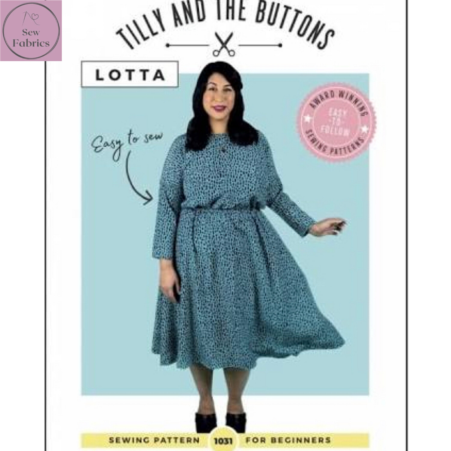 Lotta Dress Printed Sewing Pattern by Tilly and The Buttons