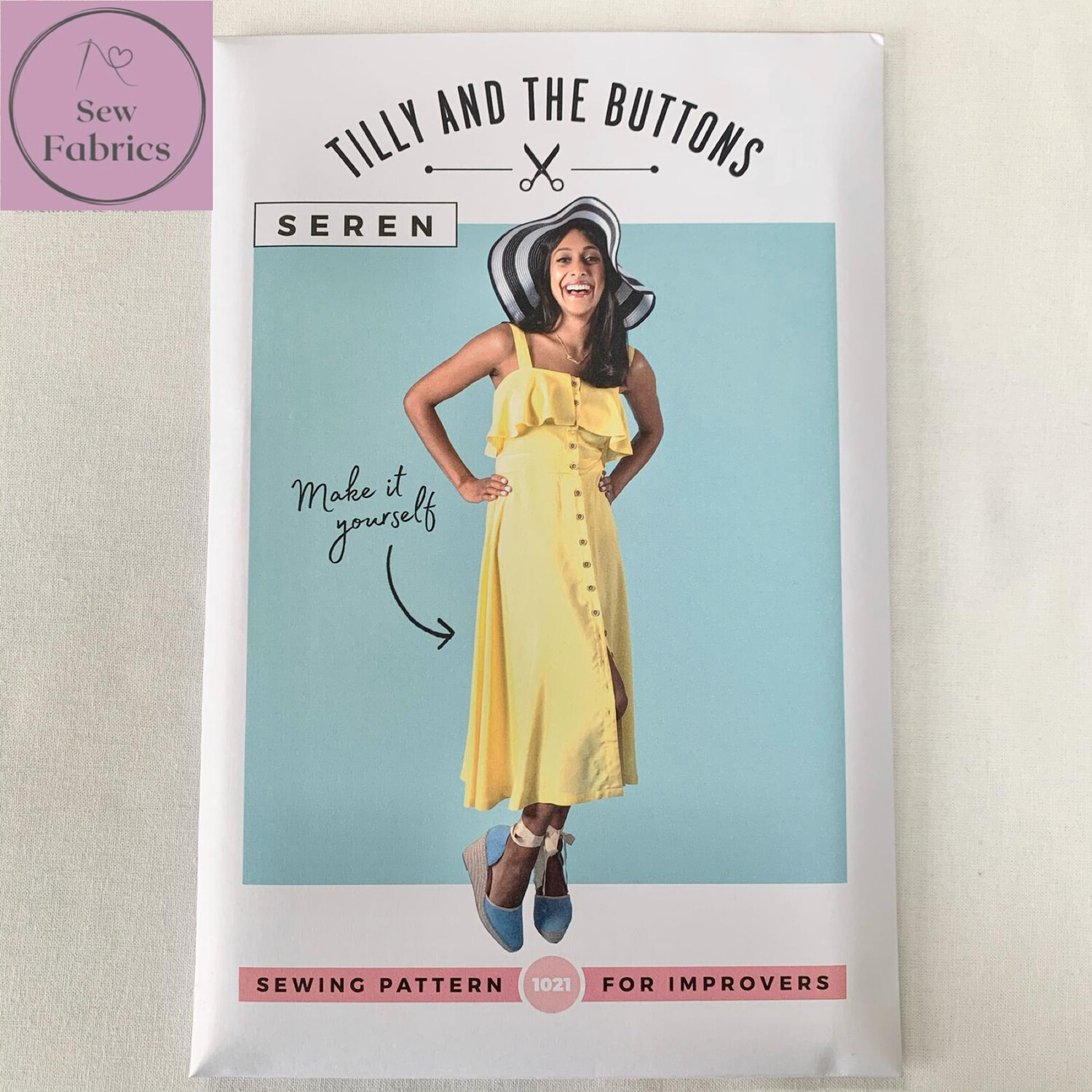 Seren Dress Printed Sewing Pattern by Tilly and The Buttons