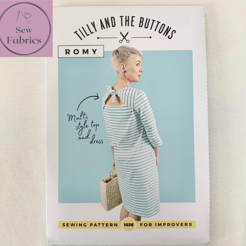 Romy Top and Dress Printed Sewing Pattern by Tilly and The Buttons