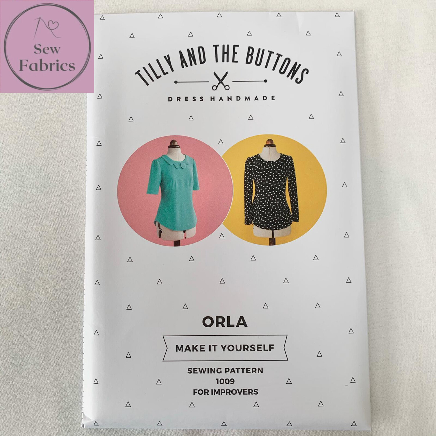 Orla Shift Top Printed Sewing Pattern by Tilly and The Buttons