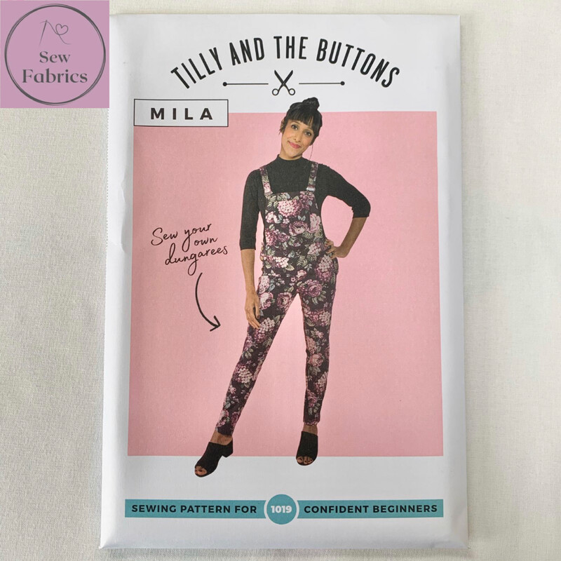 Mila Dungarees Printed Sewing Pattern by Tilly and The Buttons