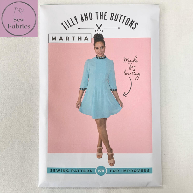 Martha Dress Printed Sewing Pattern by Tilly and The Buttons