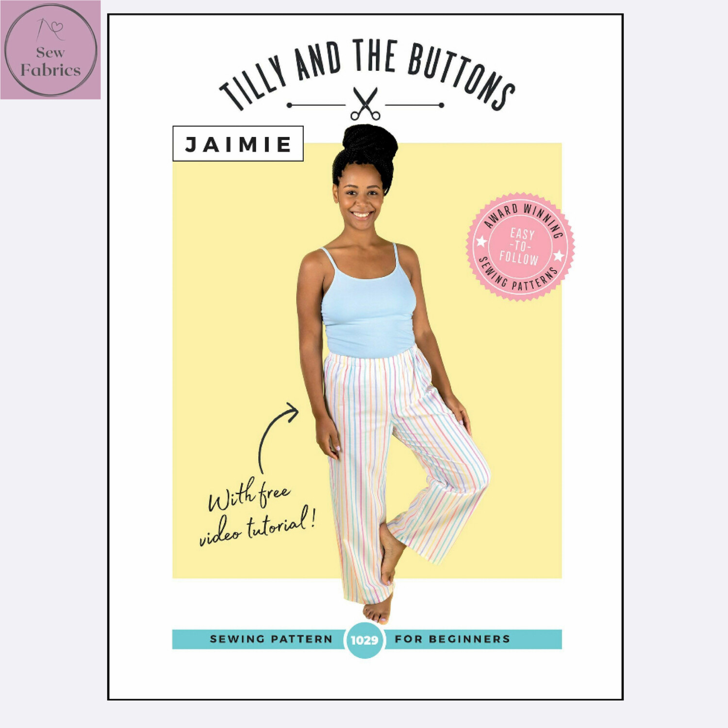 Jaimie Pyjama Bottoms and Shorts Printed Sewing Pattern by Tilly and The Buttons