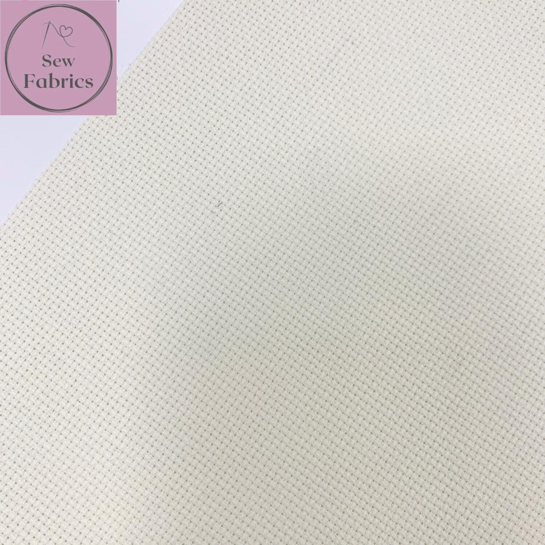 "14 Count/HPI Cross Stitch Aida Sheets Cream (10"" x 14""/25cm x 35cm) Pack of 5 sheets"