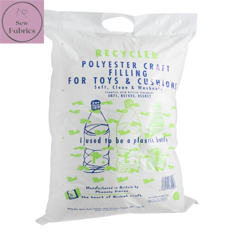 Recycled Polyester Toy Filling, 250g, Cushion, Teddy Bear filler