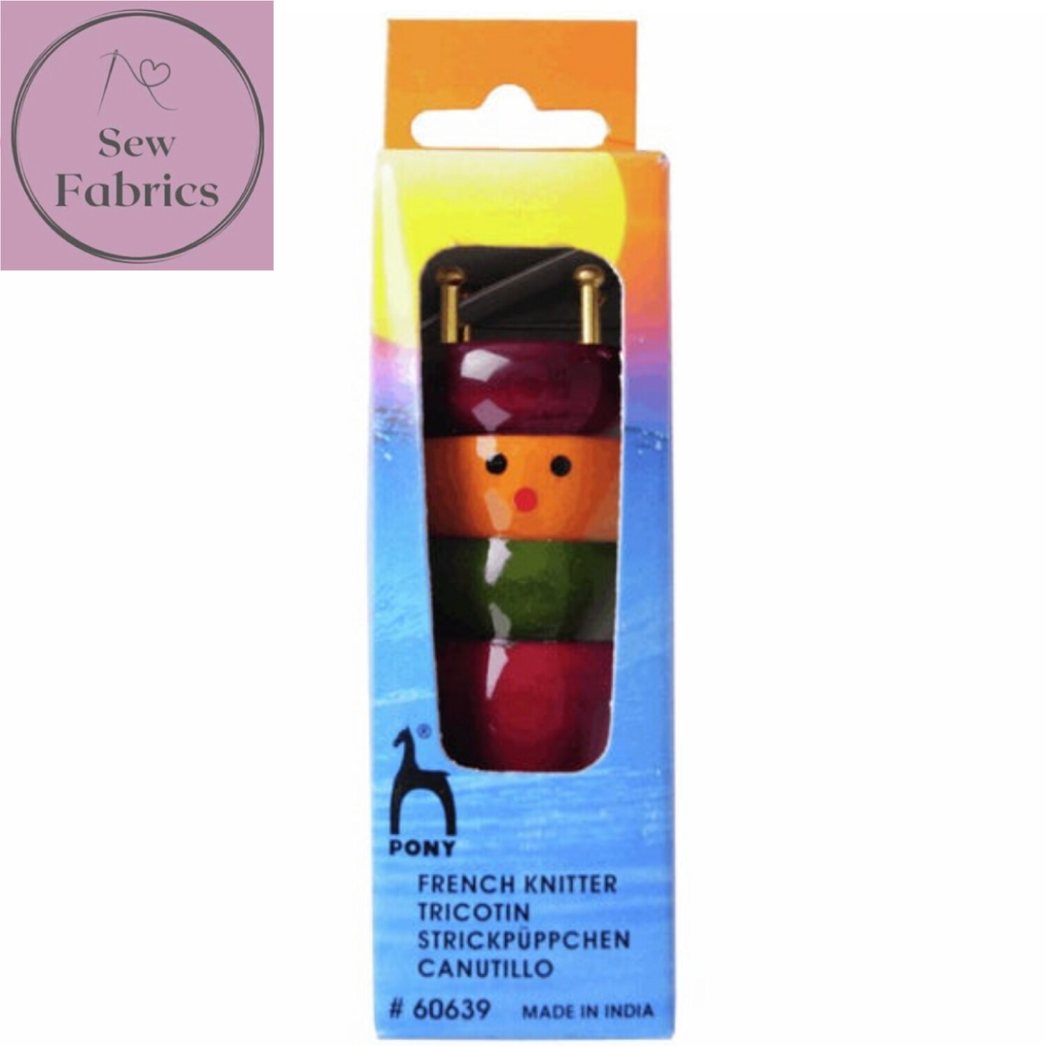 Pony Painted French Knitting Dolly - Assorted colours, may vary