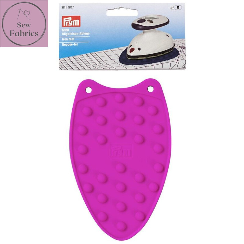 Prym Mini Silicone Iron Rest, Sewing, Dressmaking, Quilting Accessory, Pink