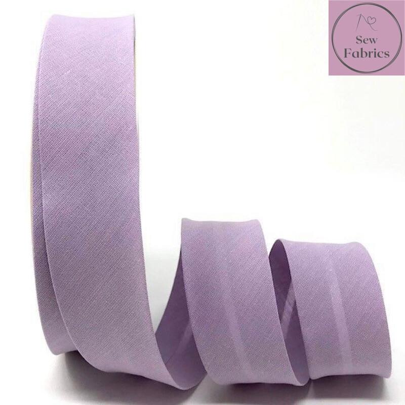 Lilac Plain Polycotton Bias Binding 30mm