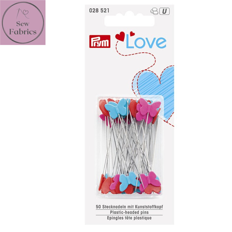 Prym Love Plastic Pin Heads, Sewing, Dressmaking, Quilting Accessory.