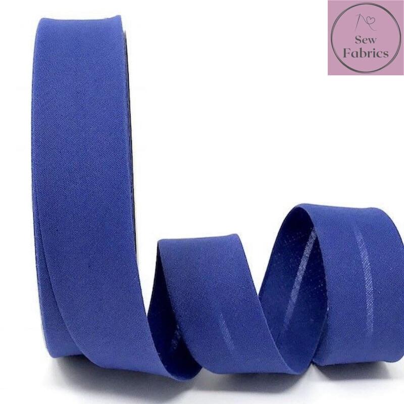 Bluebell Plain Polycotton Bias Binding 30mm