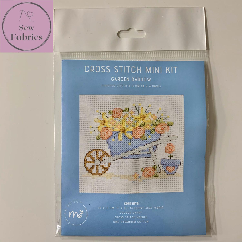 """Garden Barrow My Cross Stitch Mini Kit 6""""x6"""""""