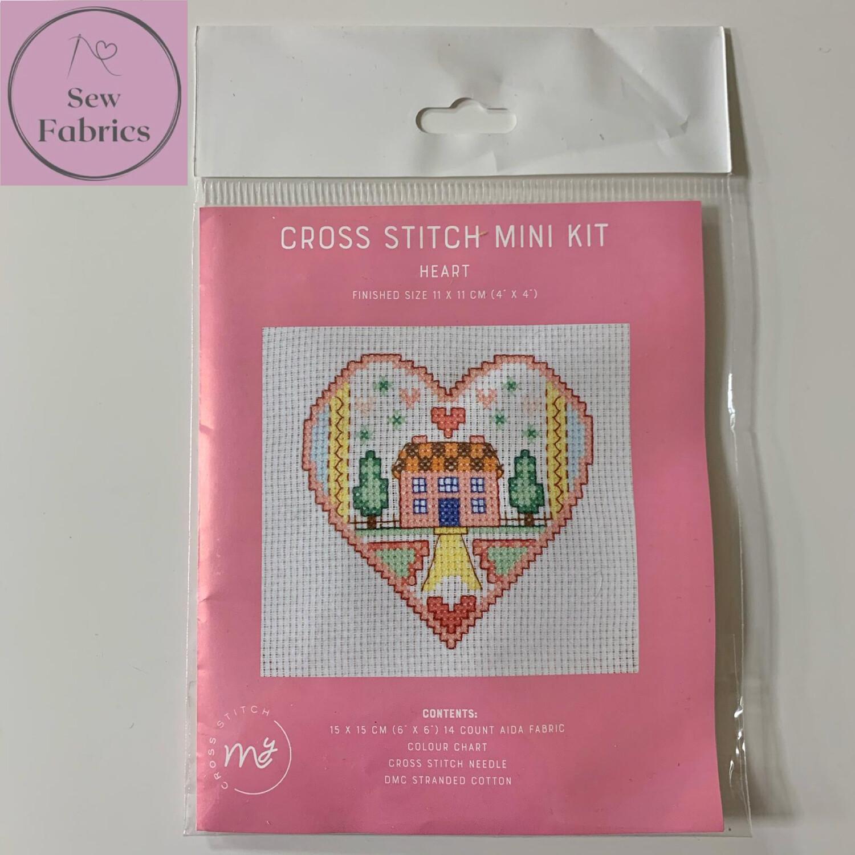 """Heart My Cross Stitch Mini Kit 6""""x6"""""""