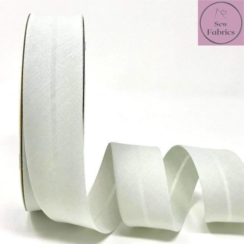 Silver Grey Plain Polycotton Bias Binding 30mm