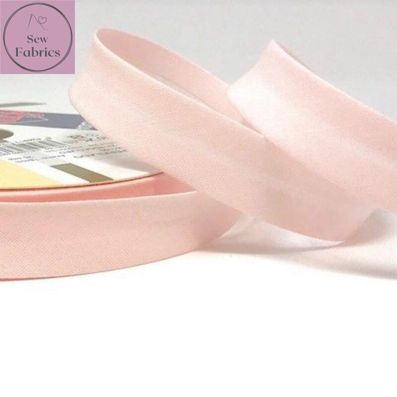 18mm Pink Azalea Plain Bias Polycotton Bias Binding