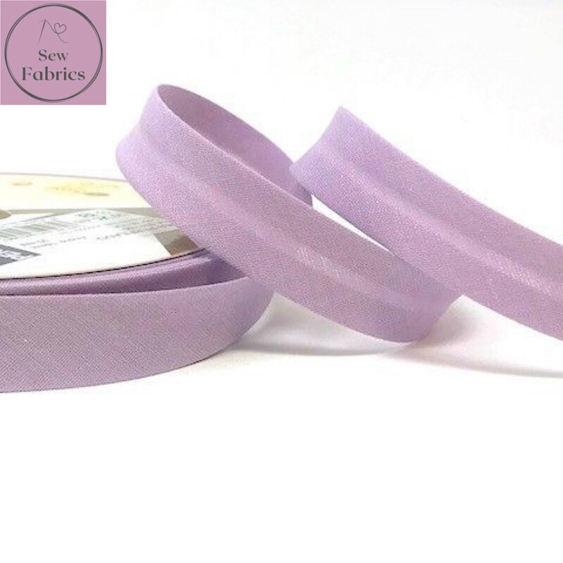 18mm Lilac Plain Bias Polycotton Bias Binding