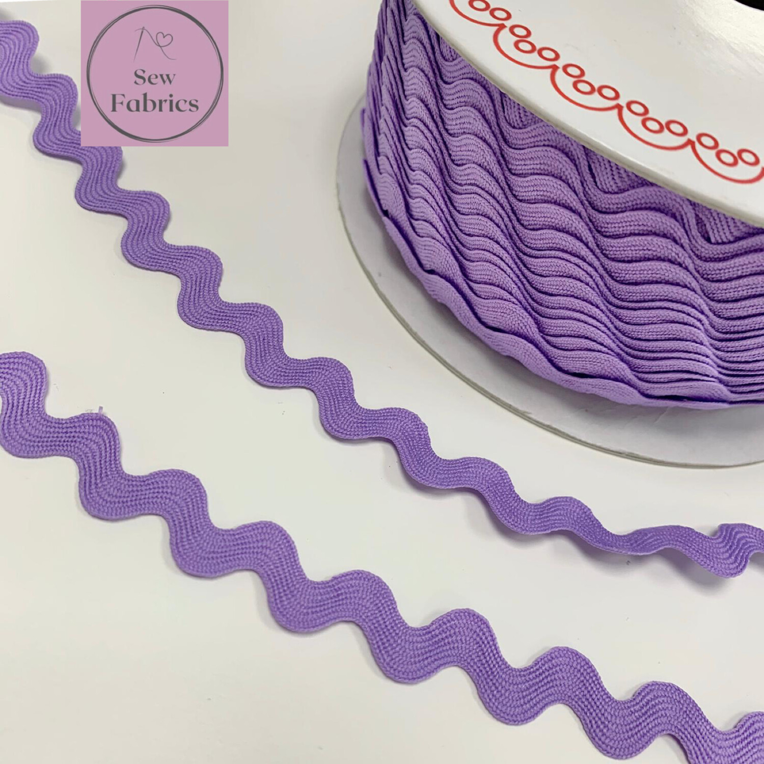 Bertie's Bows Lilac Purple 13mm Large Ric Rac Trim, Edging, Fringe, Braid, Craft