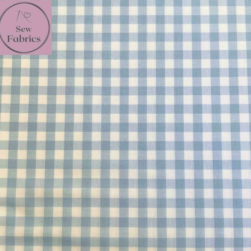 John Louden Pale Blue Gingham 1/3