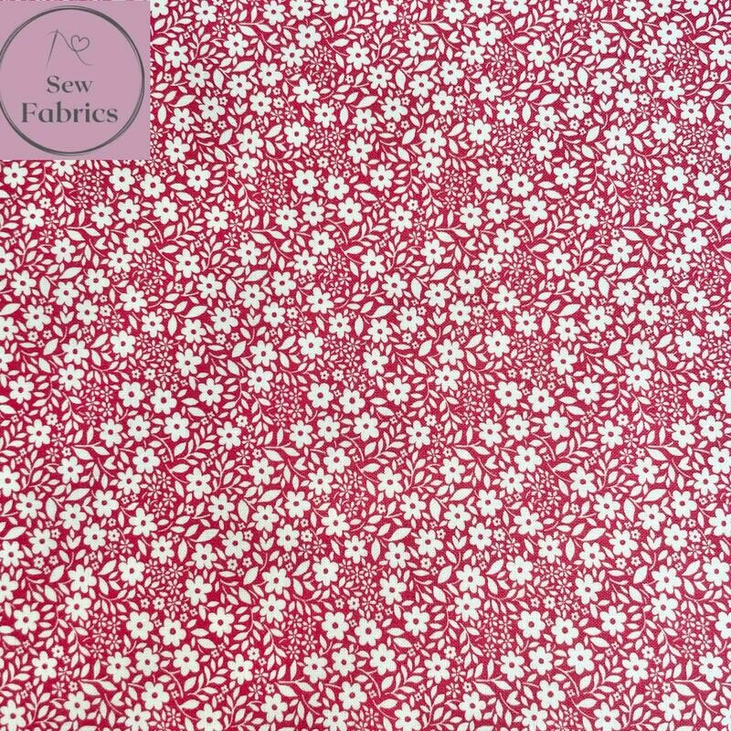 Michael Miller Country Cottage Collection - Sweet Nothings - Peach Pink, 100% Cotton Fabric, Dressmaking, Quilting, Home Soft Furnishings Floral Material