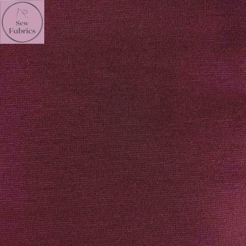 Wine Ponte Roma Solid Jersey Fabric