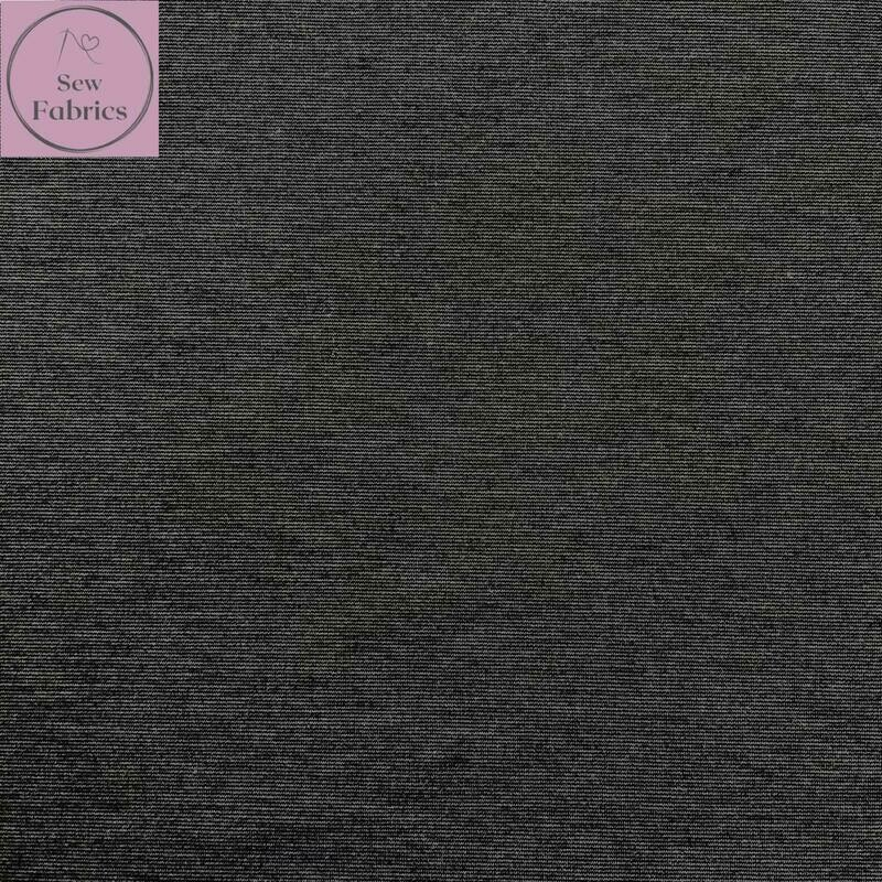 Charcoal Grey Ponte Roma Solid Jersey Fabric
