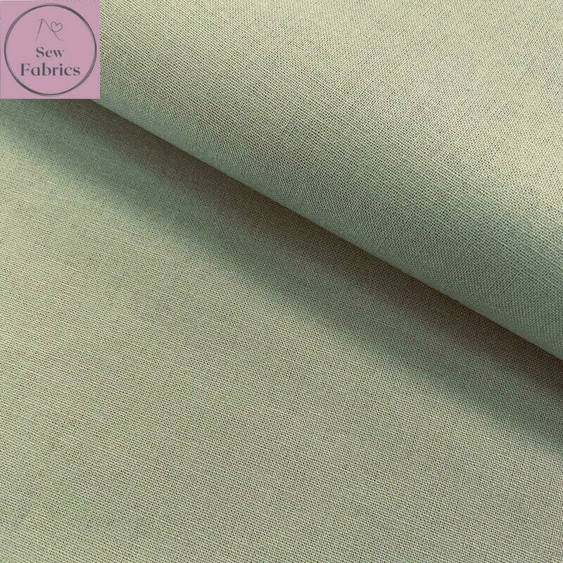 Sage Green 100% Craft Cotton Solid Fabric Plain Material