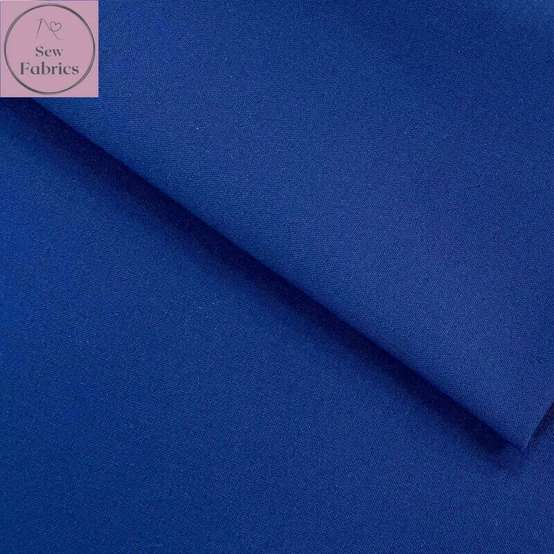 Royal Blue 100% Craft Cotton Solid Fabric Plain Material