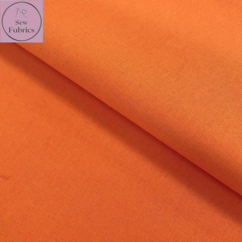 Orange 100% Craft Cotton Solid Fabric Plain Material