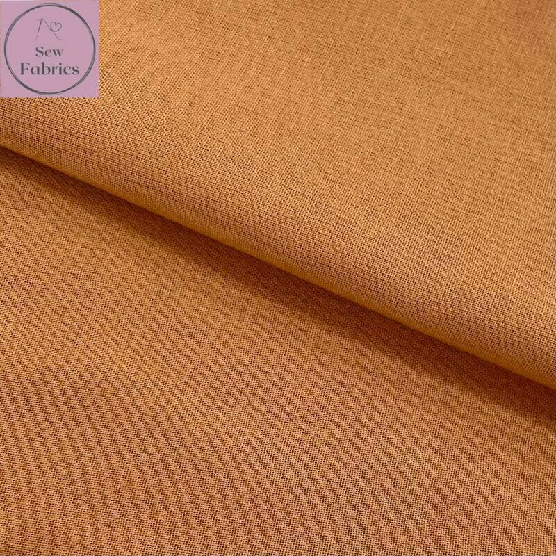 Spice 100% Craft Cotton Solid Fabric Plain Material