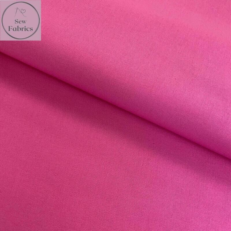 Sherbert Pink 100% Craft Cotton Solid Fabric Plain Material