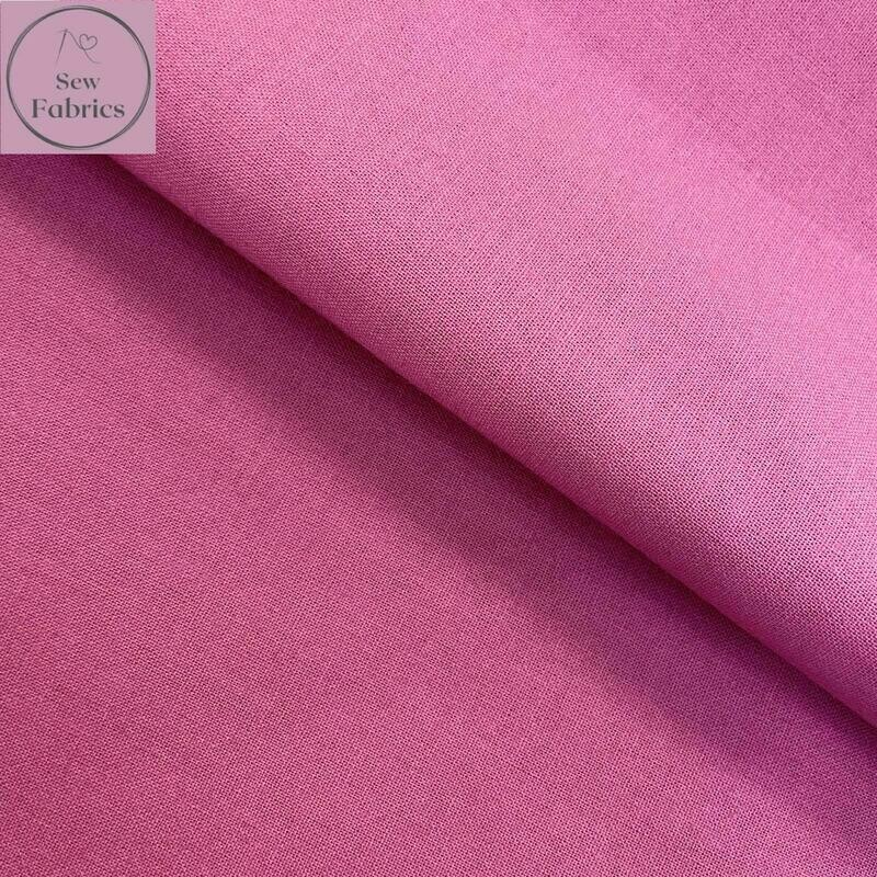 Dusky Pink 100% Craft Cotton Solid Fabric Plain Material