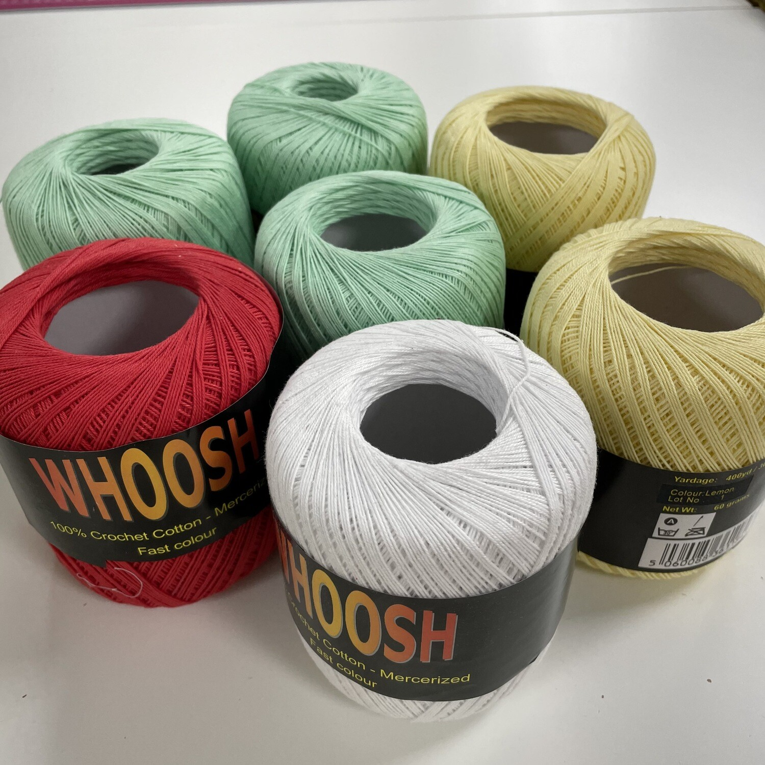 Bumper Pack of 7 - Assorted Whoosh Crochet Cotton